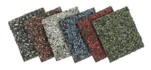 colorful shingle samples